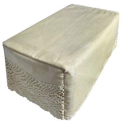 Shamrock Design Chair Back with Cutwork Detail Sofa Furniture Cover Antimacassar