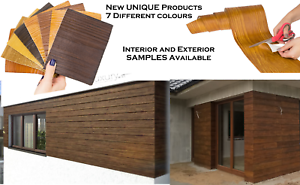 Image Is Loading Artificial Wood Slips Cladding Wall Flexible Tiles Exterior