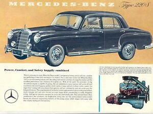 1957 Mercedes Benz 220S Sales Brochure mw631-USCAZT