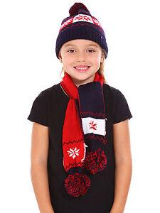5e01dff58a2 Image is loading Children-Kids-Boys-Girls-Winter-Warm-Set-Snowflake-