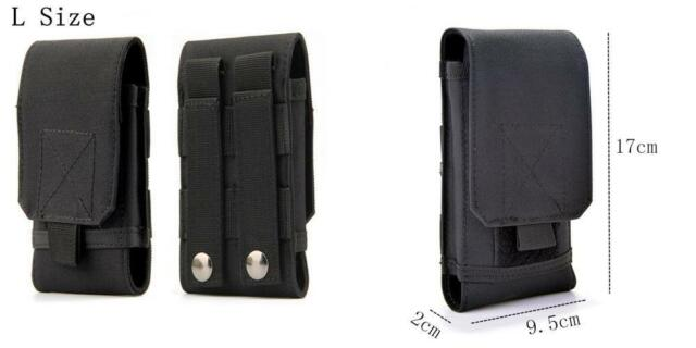 Tactical MOLLE iPhone Galaxy Edge LG Holster Army Belt Pouch Holder Carrier Bag