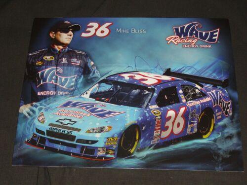 2010 MIKE BLISS #36 WAVE ENERGY DRINK NASCAR POSTCARD