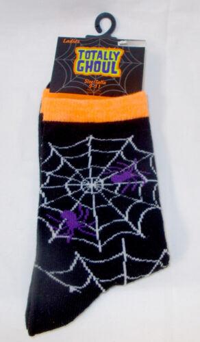 Vampire Halloween Crew Socks Black Red Womens 9-11 NWT