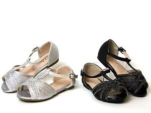 fc37f34660366c ... Image is loading New-Baby-Toddler-Girls-Dressy-Flats-Pageant  Buy Womens  Rhinestone Sandals ...
