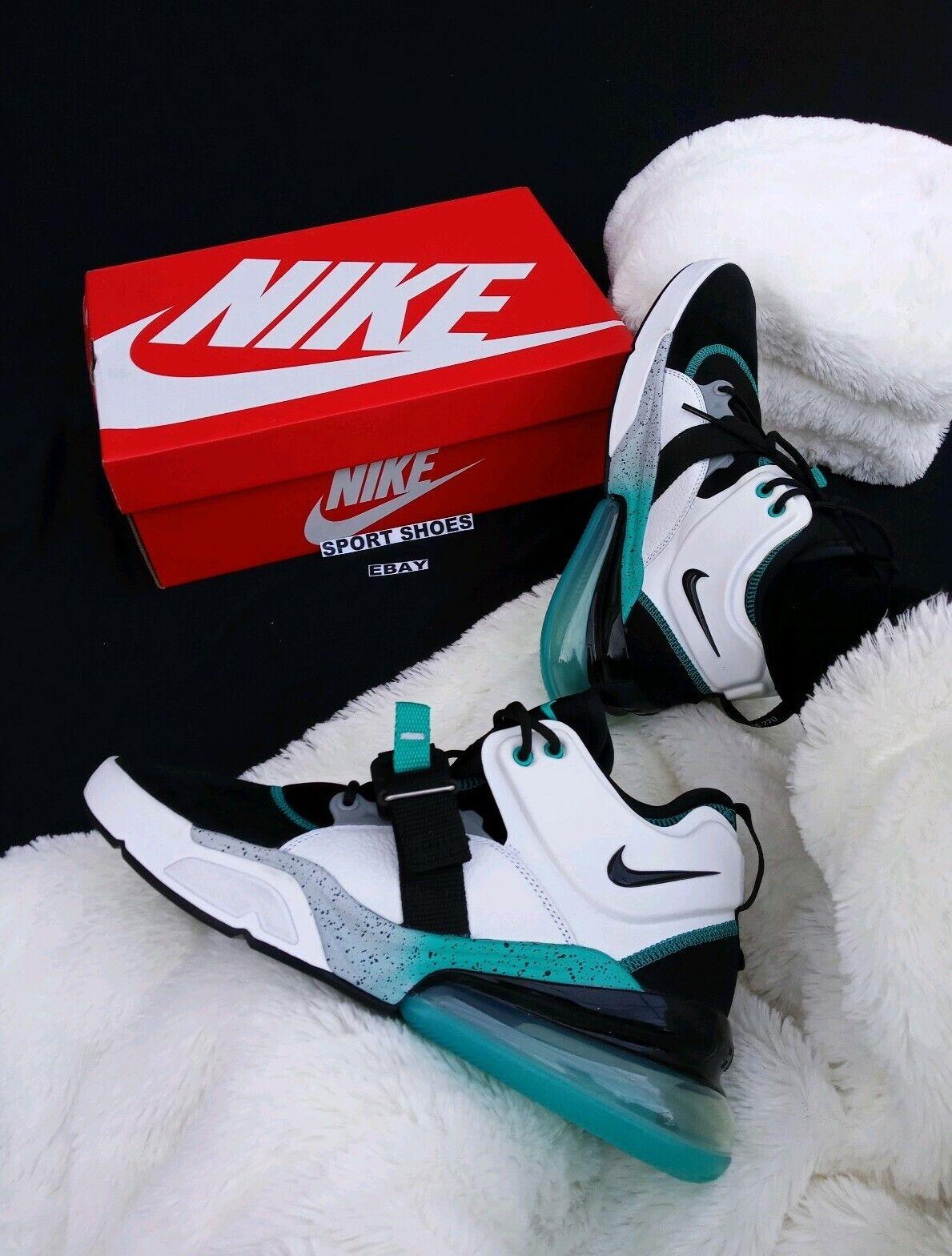 SIZE 9 MEN'S Nike Max Air Air Air Force 270 AH6772 008 bluee Emerald Black SNEAKERS e5fa72
