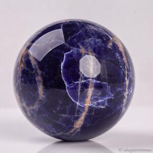 294g 62mm Large Natural Blue Sodalite Quartz Crystal Sphere Healing Ball Chakra