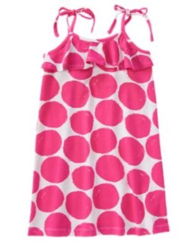 GYMBOREE DAISY PARK BIG PINK POLKA DOTS RUFFLE KNIT DRESS 6 7 8 12 NWT
