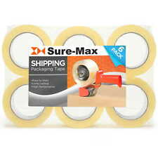 6 Rolls Carton Sealing Clear Packing Tape Box Shipping 2 Mil 2 X 120 Yards