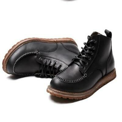 Men/'s Casual Ankle Boots Dress Leather Shoes Formal Business Vintage New Cowboy