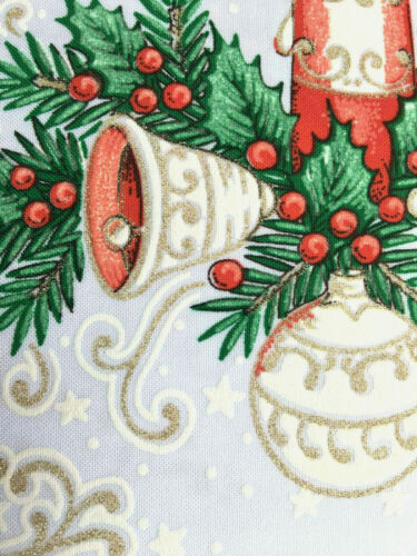 Noël Nappe Blanc De Noël Rouge Or Vert Motif Oblong Rectangle