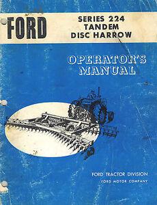 ford 224 tandem disc harrow operator s manual ebay rh ebay com
