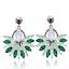 Femmes Charmant Boucles d/'oreilles Bijoux Strass Cristal Paon Ear Stud Piercing