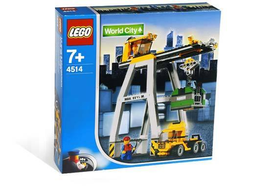 Lego TRAIN 9V World City 4514 Cargo Crane New Sealed