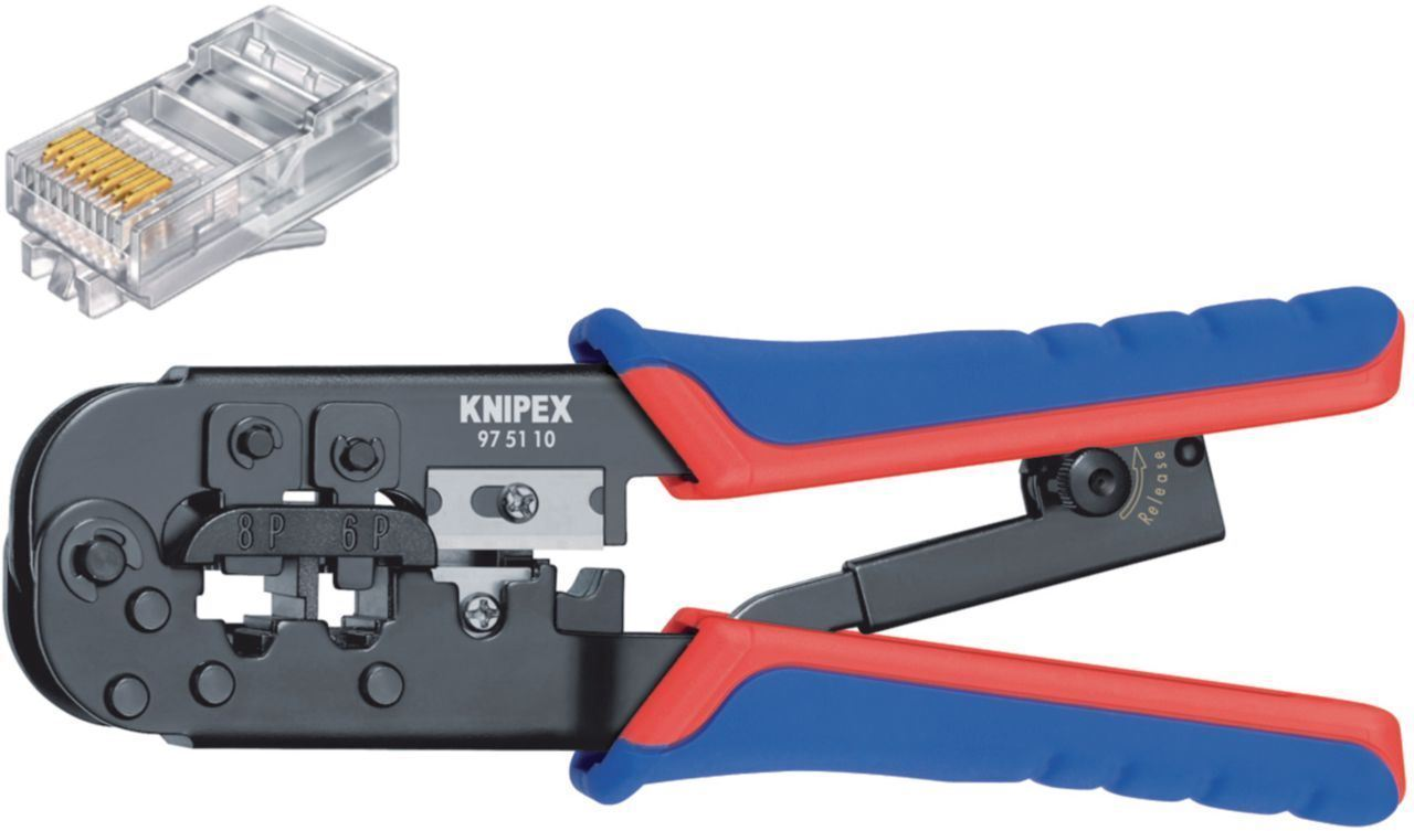 Knipex Crimp lever pliers for Western plugs/connector RJ11/12 & RJ45