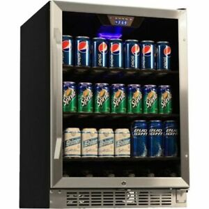 Compact 184 Can Built In Beverage Center Stainless Steel