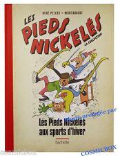 Album Les PIEDS NICKELES aux SPORTS d'HIVER tirage toilé rouge Pellos nickelés