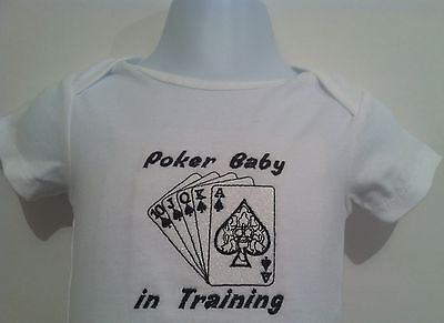324157686 CafePress Daddys Poker Buddy Baby Football Bodysuit