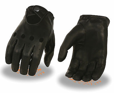 Saddle Tan Leather Men/'s Professional Style Driving Glove w// Snap Wrist