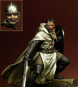 1//18 90mm Templar Knight XII ancient soldier 90mm figure Historical WWII Resin M