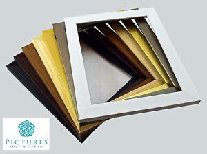 Photo Frames Picture Frame Modern Square Black White Gold Silver Oak