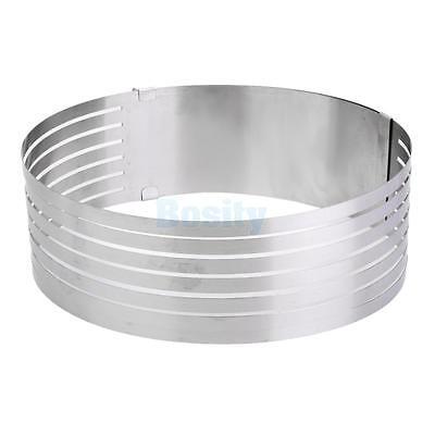 "9.5-12"" Cake Ring Cutter Layer Slicer Leveller Guide Baking Kitchen Supplies"