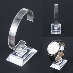 CLEAR-ACRYLIC-BRACELET-WATCH-DISPLAY-HOLDER-STAND-RACK-WHOLESALE