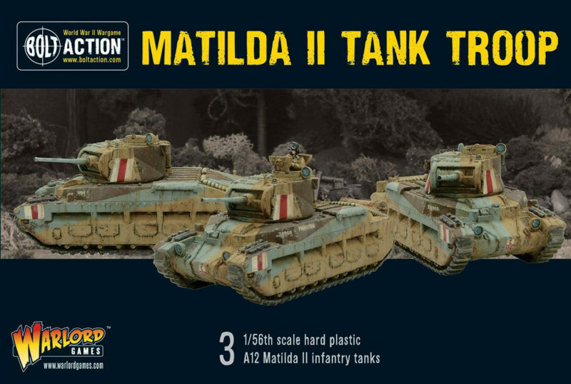 Matilda II TANK TROUPE TROUPE TROUPE Bolt Action Warlord Games 28 mm 2e9bba