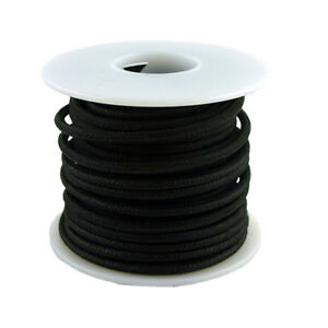 20 AWG vintage style solid cloth wire 50' spool BLACK