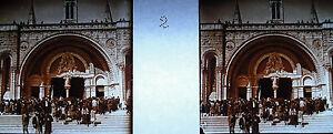 Photographie-entree-de-la-Basilique-Notre-Dame-du-Rosaire-de-Lourdes-vers-1920