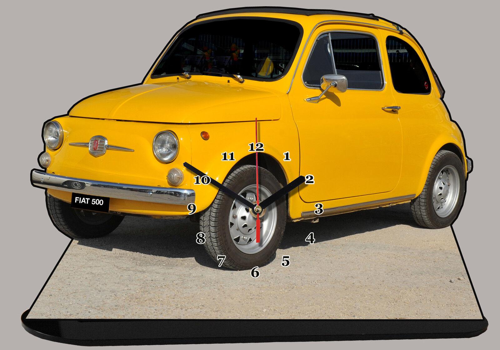 AUTO AUTO AUTO MINIATURA, FIAT 500 yellow-06, AUTO IN