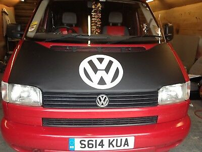 VW T5  TRANSPORTER CARAVELLE CENTRE LOGO BONNET BRA