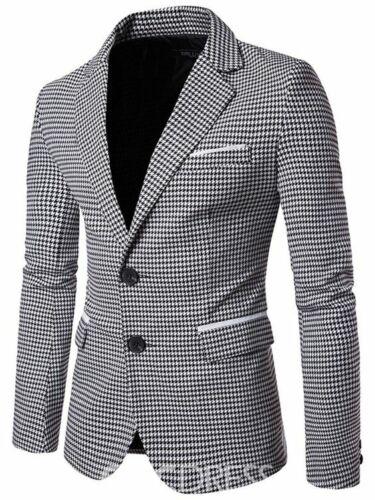 Mode Männer Hahnentritt  Herren Anzüge Tweed Smoking Anzüge Hochzeitsanzug