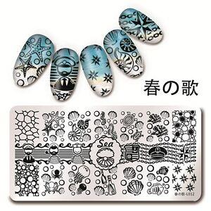 Harunouta 12*6cm Nagel Kunst Stamping Schablone Platte See Muschel Design L012 | EBay
