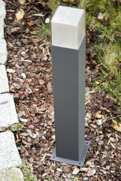 Metallo antracite Plastica bianca Segnapasso da esterno 1 x E27 TC-DSE NEW 62390