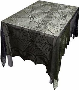 Attirant Image Is Loading Gothic Black Lace BAT SPIDER WEB TABLE CLOTH