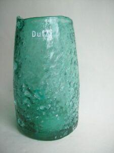 Dutz Collection Vase Pot Cioburi Grün Gree 15 Cm Glas Mundgeblasen