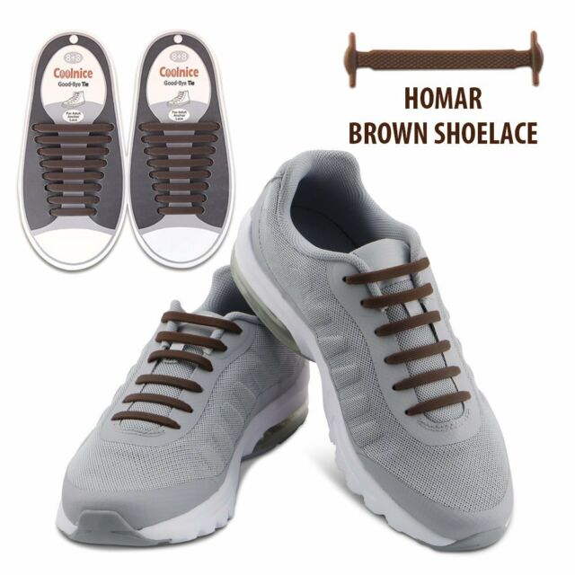 cb26d450b9f8 Brown Homar Waterproof Athletic Shoelaces System Laceless Shoes Slip On  No-Tie