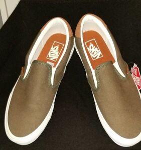 c8c0aa8d3e16e7 Vans SLIP ON 59 Flannel Dusty Olive Men s Skate Shoes 10 NEW ...