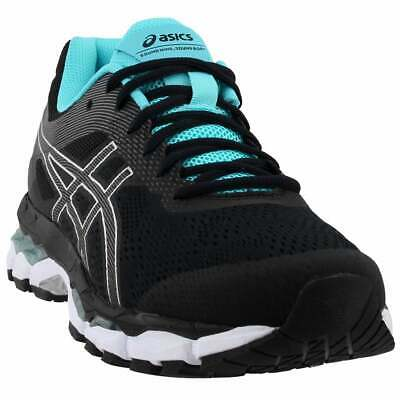 asics gelsuperion 2 casual running shoes  black  womens