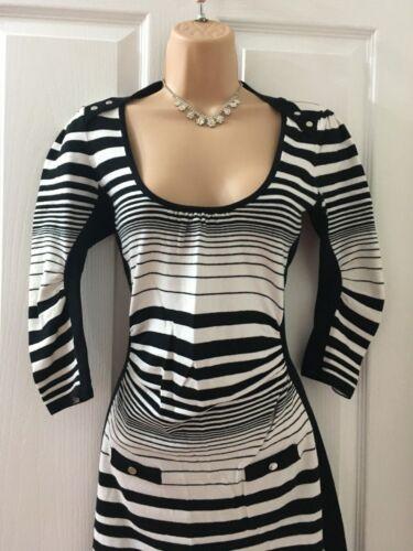 10 2 white Karen Black Jumper Size Dress Millen 6f0wCqwvZ