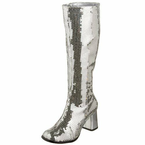 Pleaser Bordello by Damenschuhe Spectatcular-300 Sequin Gogo Boot- Pick SZ/Farbe.
