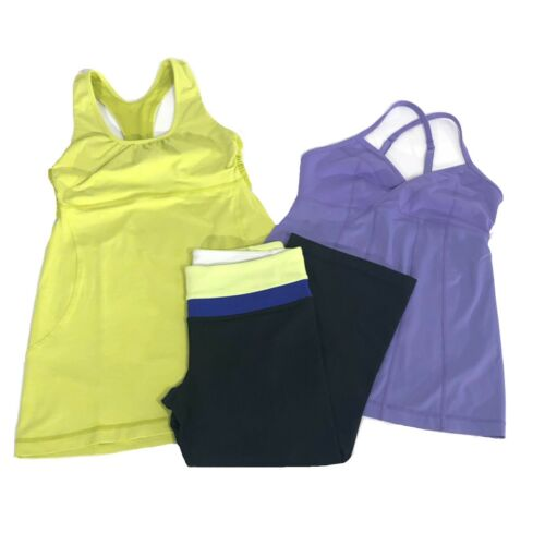 Lululemon Womens Size 4 Bundle Lot Two Tank Tops 1
