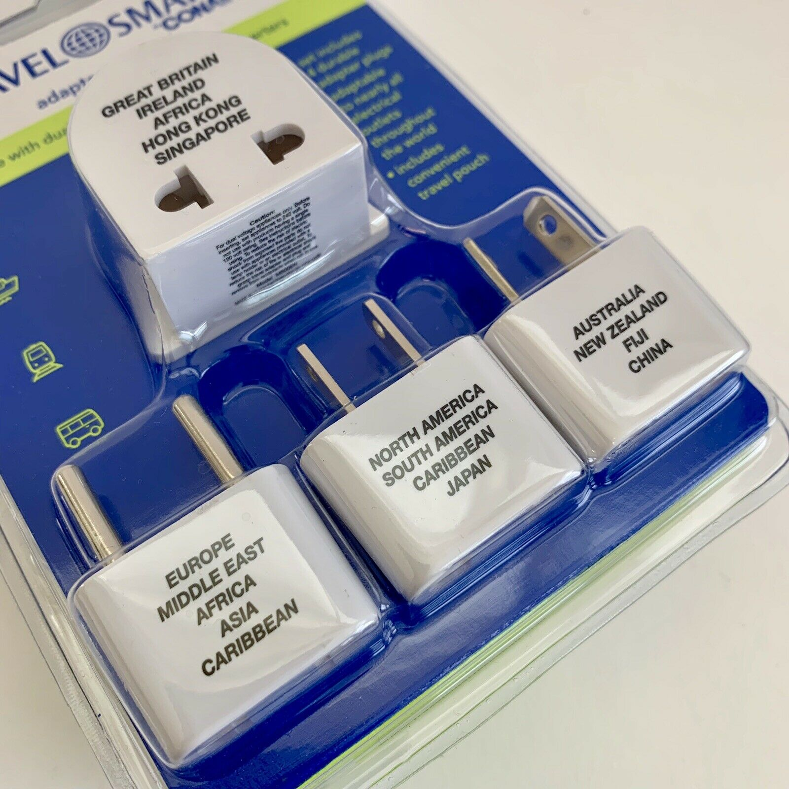 ConAir Travel Smart 4 Adapter Plug Set with Pouch--NIP