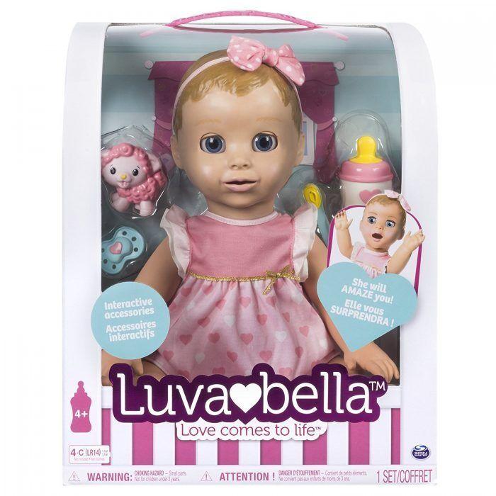 Bambola luvabella – CAPELLI BIONDI reattivo baby doll con espressioni realistico.