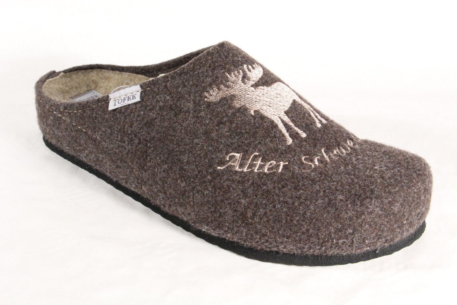 Pantofole da uomo TOFEE uomo pantofola ZOCCOLI SABOT MARRONE 74-181 NUOVO