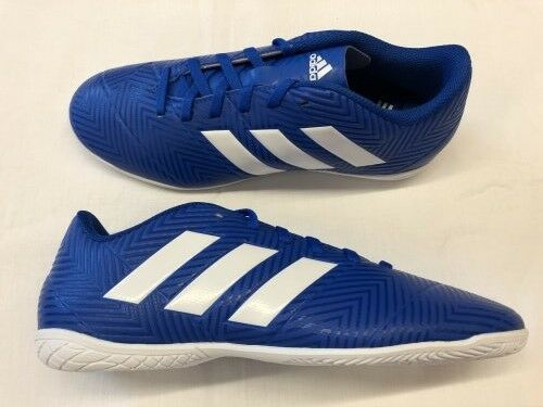 Adidas NEMEZIZ TANGO 18.4 IN J Hallenschuhe Hallenschuhe Hallenschuhe Kinder blau weiß d5d362