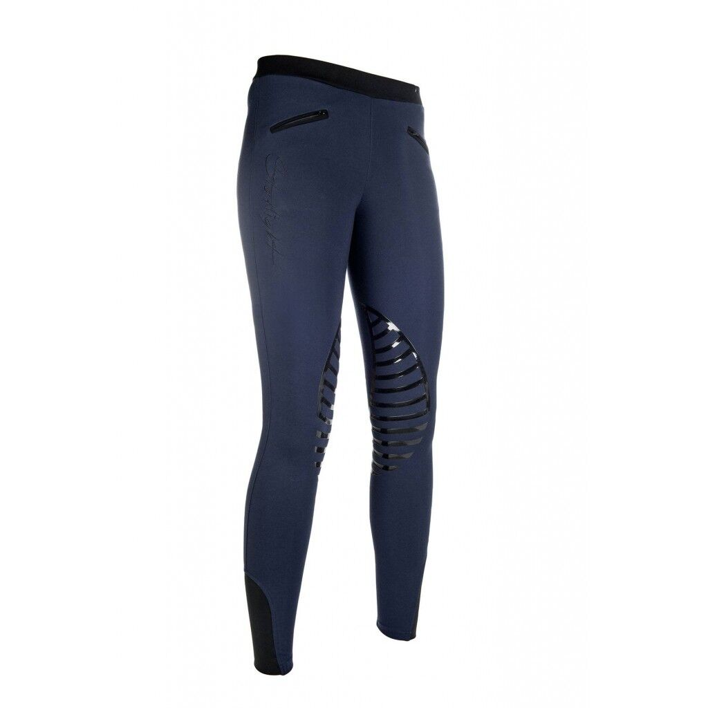 HKM STARLIGHT Pull On COMODI Riding LeggingsCollantBlu Scuro