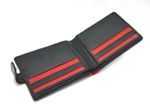MENS DESIGNER BUONO PELLE RFID BLOCKING LEATHER WALLET CREDIT CARD PURSE