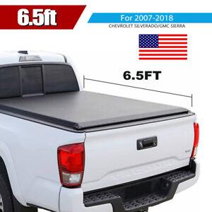 For 2007 2018 Gm Silverado Sierra 6 5 039 Bed Tonneau Cover Soft