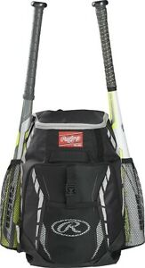 Rawlings R400 Players Youth Bat Pack Backpack Baseball / Softball Various Colors